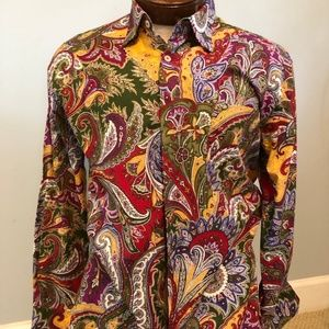 Alan Flusser Purple, Red and Green Paisley
